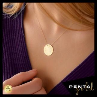 Penta Gold - 14 Ayar Altın Ayet-el Kürsi Dualı Kolye