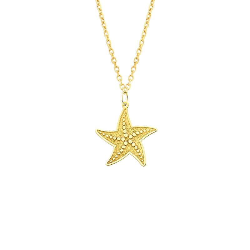 14 Ayar Altın Deniz Yıldızı Kolye