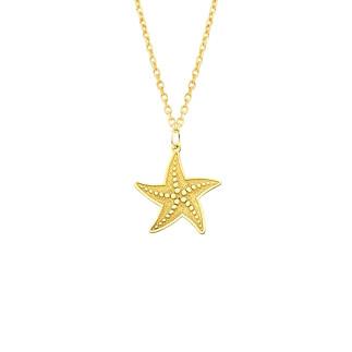 14 Ayar Altın Deniz Yıldızı Kolye - Thumbnail
