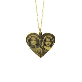 Penta Gold - 14 Ayar Altın Kalpli Resimli Kolye