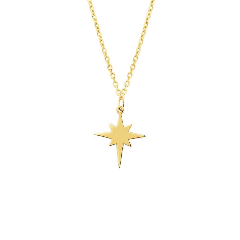 14 Ayar Altın Kutup Yıldızı Kolye