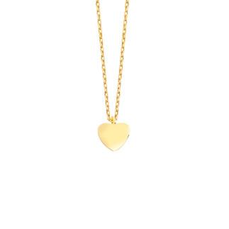 14 Ayar Altın Minik Kalpli Kolye - Thumbnail