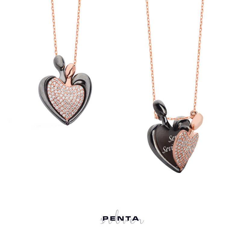 14 Şubat Kalpli İsimli Gümüş Kolye