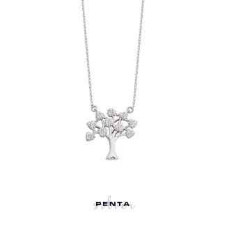 Penta Silver - Ağaç Gümüş Kolye (1)