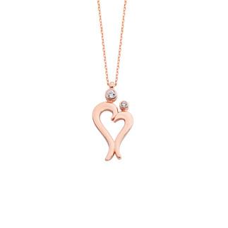 Anne Çocuk Sevgisi Gümüş Kolye - Thumbnail