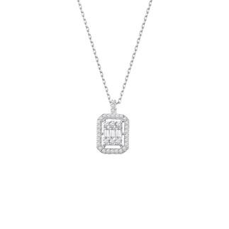 Anturaj Baget Gümüş Kolye - Thumbnail