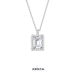 Penta Silver - Anturaj Baget Tek Taş Gümüş Kolye (1)