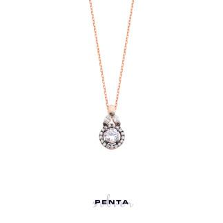 Penta Silver - Anturaj Çiçek Gümüş Kolye (1)
