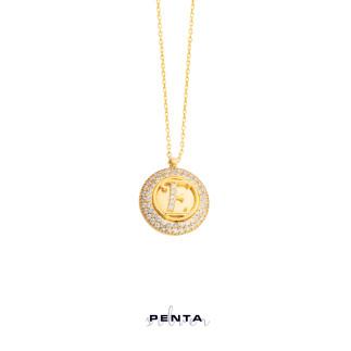 Penta Silver - Anturaj Harfli Gümüş Kolye