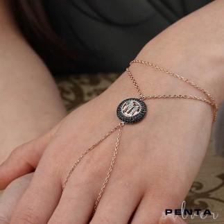 Penta Silver - Anturaj Harfli Gümüş Şahmeran Bileklik