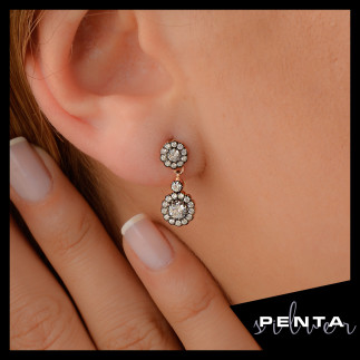 Penta Silver - Anturaj Papatya Gümüş Küpe
