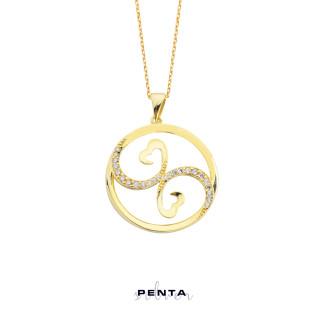 Penta Silver - Aşık-ı Sadık Kalpli Gümüş Kolye