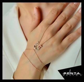 Penta Silver - At Nalı Şans Gümüş Şahmeran Bileklik