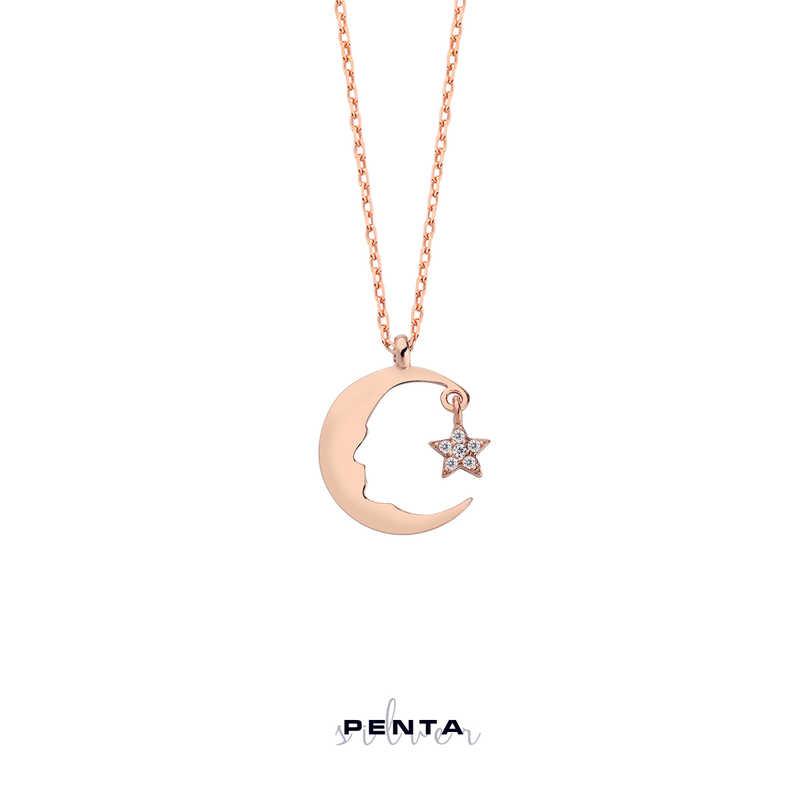 Atatürk Silüeti Ay Yıldız Gümüş Kolye