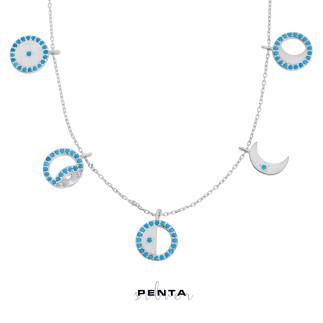 Penta Silver - Ay Döngüsü Gümüş Kolye