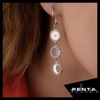 Penta Silver - Ay Döngüsü Gümüş Küpe