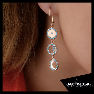 Penta Silver - Ay Döngüsü Gümüş Küpe (1)
