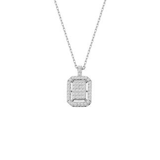 Baget Montür Gümüş Kolye - Thumbnail