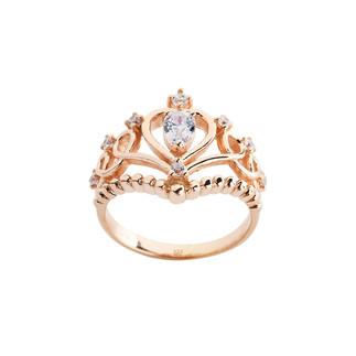 Barok Motif Prenses Tacı Gümüş Yüzük - Thumbnail