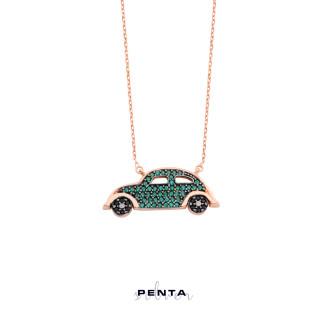 Penta Silver - Beetle Gümüş Kolye