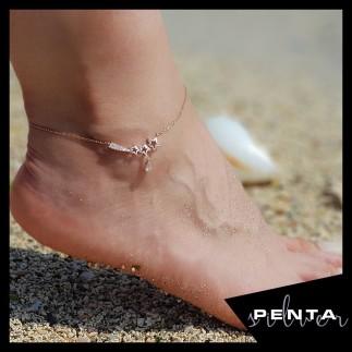 Penta Silver - Biela Kuyruklu Yıldız Gümüş Halhal (1)