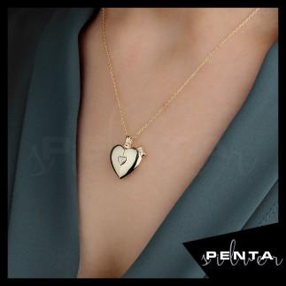 Penta Silver - Canım Annem Kalpli Gümüş Kolye (1)