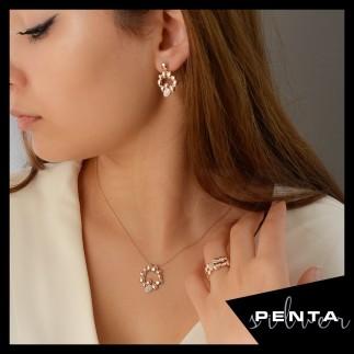Penta Silver - Çelenk Gümüş Takı Seti