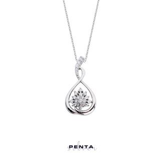 Penta Silver - Çiçek Sepeti Gümüş Kolye (1)