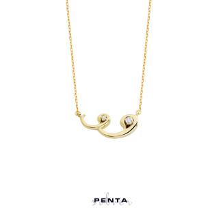 Penta Silver - Çift Vav Gümüş Kolye (1)