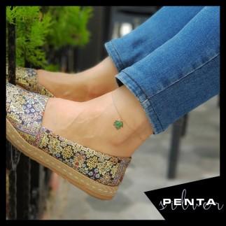 Penta Silver - Çınar Yaprağı Gümüş Halhal (1)