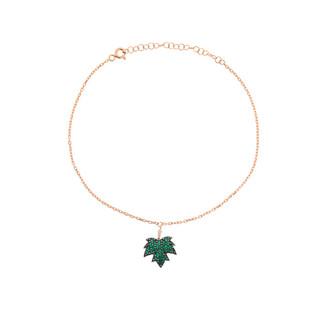 Çınar Yaprağı Gümüş Halhal - Thumbnail