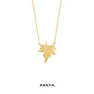 Penta Silver - Çınar Yaprağı Gümüş Kolye