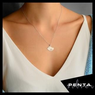 Penta Silver - Civciv Gümüş Kolye (1)