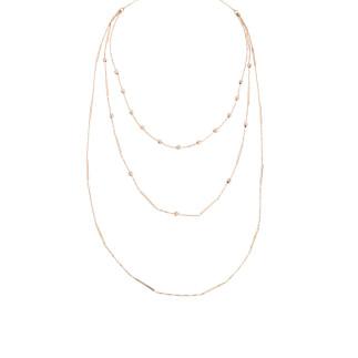 Çubuk Uzun Zincir Gümüş Kolye - Thumbnail