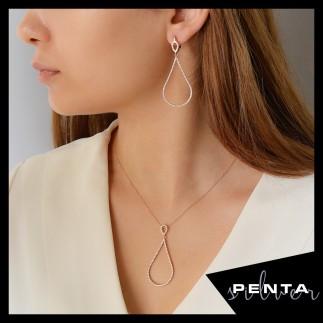 Penta Silver - Damla Gümüş Takı Seti