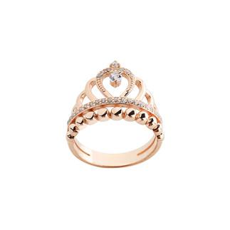 Damla Motifli Prenses Tacı Gümüş Yüzük - Thumbnail