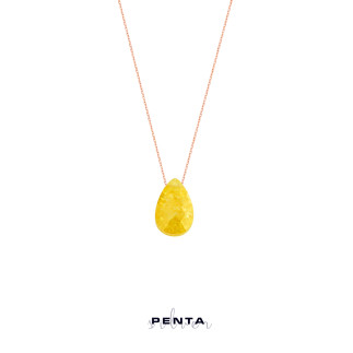 Penta Silver - Damla Renkli Taşlı Gümüş Kolye (1)