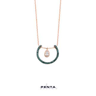 Penta Silver - Damla Sallantılı Askı Gümüş Kolye