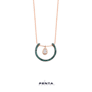 Penta Silver - Damla Sallantılı Askı Gümüş Kolye (1)