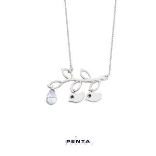 Penta Silver - Damla Taşlı Civciv Gümüş Kolye