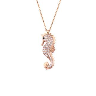 Deniz Atı Gümüş Kolye - Thumbnail