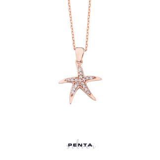 Deniz Yıldızı Gümüş Kolye - Thumbnail