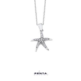 Penta Silver - Deniz Yıldızı Gümüş Kolye