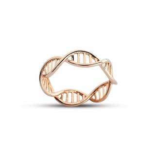 DNA Sarmal Gümüş Yüzük - Thumbnail