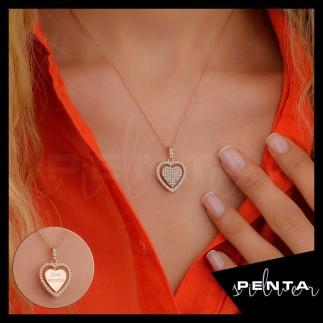 Penta Silver - Dönen Kalpli İsimli Gümüş Kolye