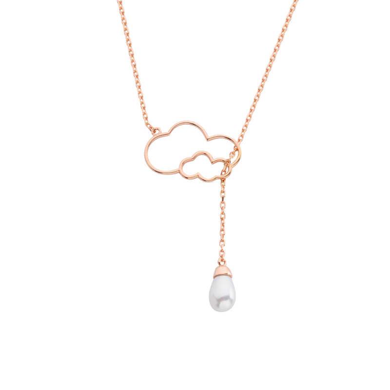Drop İnci Bulut Gümüş Kolye