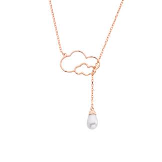 Drop İnci Bulut Gümüş Kolye - Thumbnail