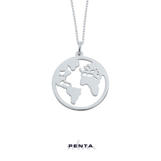 Penta Silver - Dünya Gümüş Kolye