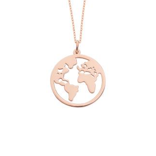 Dünya Gümüş Kolye - Thumbnail