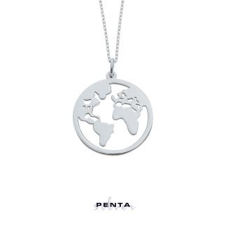 Penta Silver - Dünya Gümüş Kolye (1)